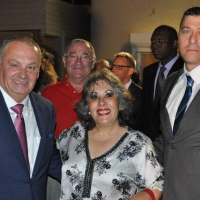עם שגריר אלבניה בישראל ועם האחראי על דסק הבלקנים במשרד החוץ באירוע יום העצמאות האחרון של סלובניה