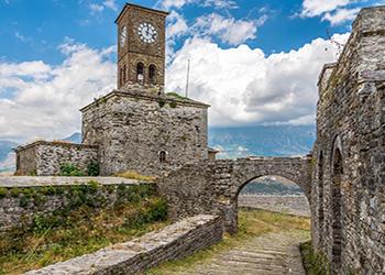 CASTLE OF GJIROKASTRA IN ALBANIA