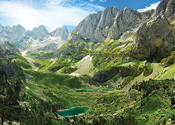 LAKES IN ALBANIAN ALPS