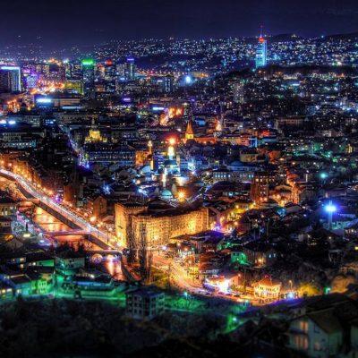 Night time Sarajevo