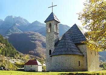 Theth alps - catholic church